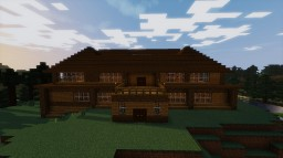 Large Wooden Mansion Minecraft Project