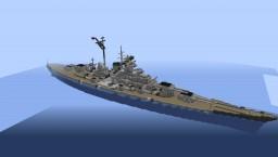 German Battleship Bismarck - NavalClash Minecraft Map & Project