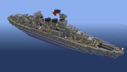 Battlecruiser HMS Hood - NavalClash Minecraft Map & Project