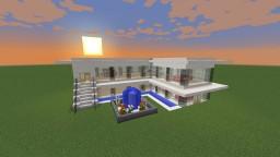 White Modern Mini Mansion Minecraft Project