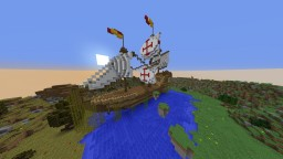 Pirate Ship surrounded by Mountains Minecraft Project