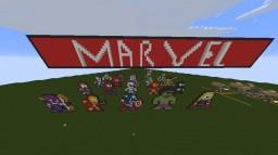 Superhero Pixel Art [MARVEL & DC] Minecraft Project
