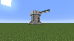 Fire Cannon/ Turret Artillery. Full Auto, Immense Firepower! Designed To Be Freestanding! Minecraft Map & Project