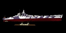 French navy's  Battleship MN Alsace Minecraft Project