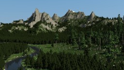 Beautiful Mountains based on forest biome Minecraft Project