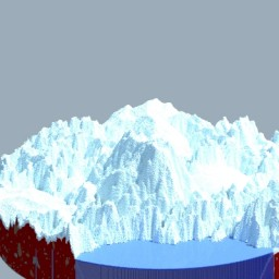 Snow Mountain Minecraft Map & Project