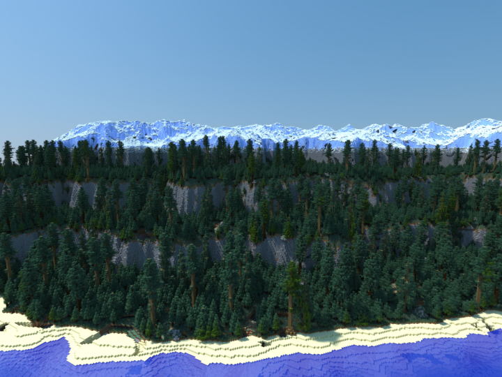 Best cliff minecraft maps projects planet minecraft taiga cliffs a minecraft 2500x2500 blocks survival map minecraft project sciox Image collections