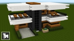 Minecraft: How To Build a Modern House / Mansion Easy (4K) (Episode 7) 2017 Minecraft Project
