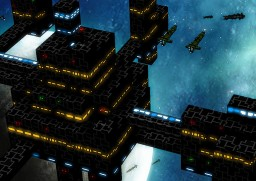a naval port (space) Minecraft Project