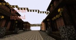 Taiwan inspired city district Minecraft Project