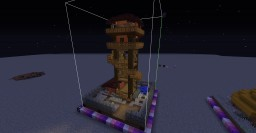 One Chunk Forest Tower Minecraft Map & Project