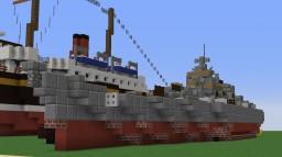 H44 German Super Battleship Bath Tub Build (1:5 scale) Thanks to MyMasterDesign Minecraft Project