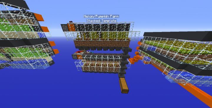 Three Survival Friendly Food Farms! Minecraft Map