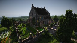 Small Monastery with Flower Orchard Minecraft Project