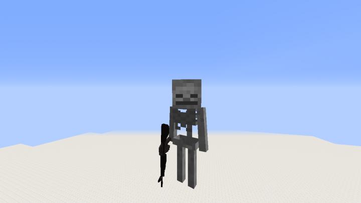 skeleton with gun