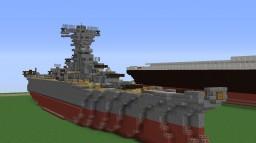 IJN Yamato ! 1 : 2.5 Scale Senkan Yamato ! (105 blocks long) !! (Download will be added) Minecraft Project