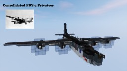 Consolidated PBY4-2 Privateer U.S. Navy 1,5:1 Minecraft Project