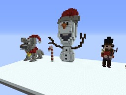 Decoration for the New Year Minecraft Project