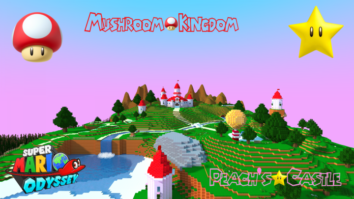 Mario Odyssey S Peach Castle Mushroom Kingdom 1 12 2 Minecraft Map