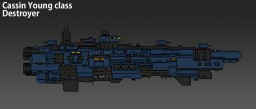 [ORIGINAL STARSHIP] : Cassin Young class destroyer Minecraft
