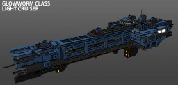 [ORIGINAL STARSHIP] : Glowworm class light cruiser Minecraft