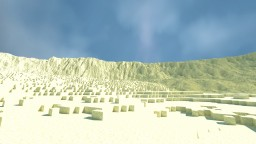 Mountainous Desert Rendering Minecraft Project