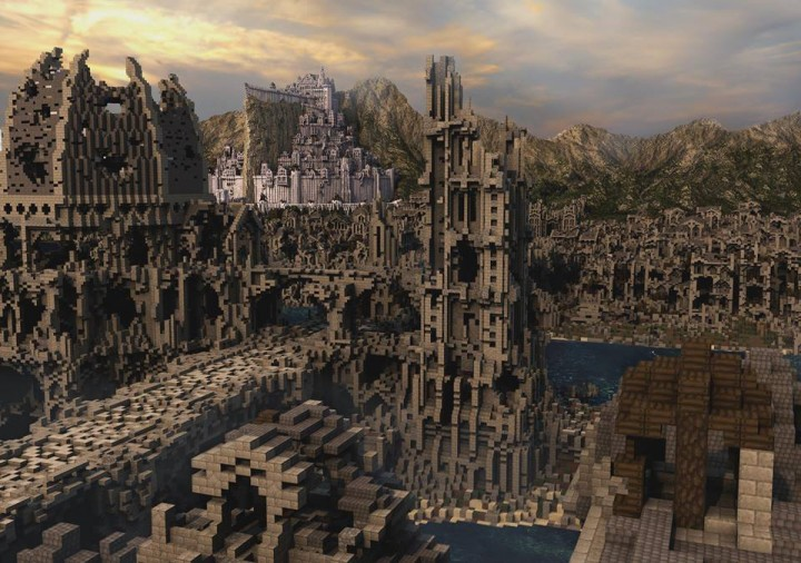 View from ruins of Osgiliath