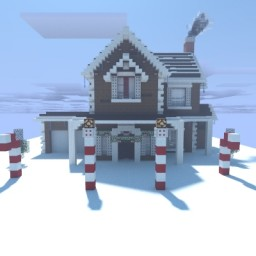 Gingerbread/Festive House Minecraft Map & Project