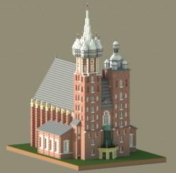 St. Mary's Basilica, Kraków Minecraft Project