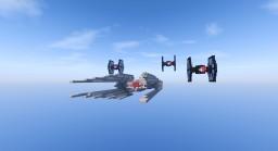 Star Wars: The Last Jedi - Tie Silencer Minecraft Project