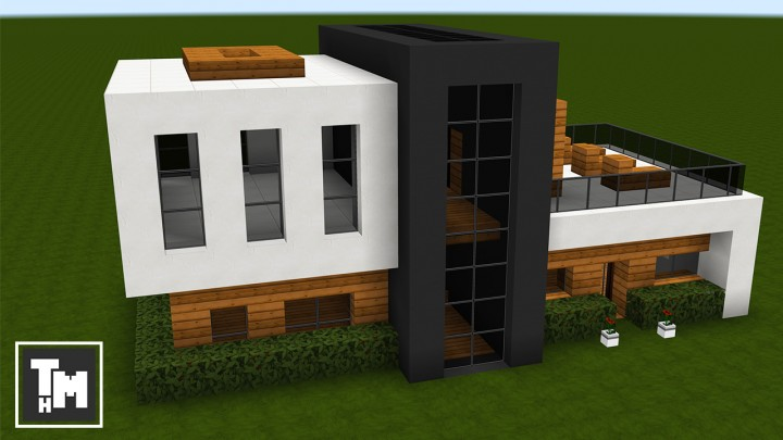 Minecraft How To Build A Small Modern House Easy Episode 3 2017 Minecraft Map