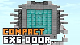 COMPACT 6X6 PISTON DOOR! Minecraft Blog Post