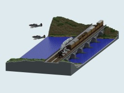 WW2 train attack diorama Minecraft Project