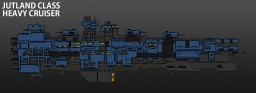 [ORIGINAL STARSHIP] : Jutland class heavy cruiser Minecraft