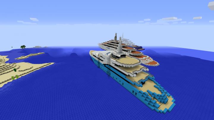 Minecraft Modern Mega Yachts Minecraft Project