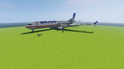 United Boeing 737-800 Minecraft Map & Project