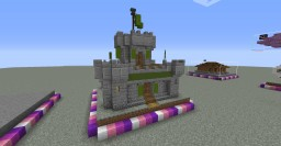 One Chunk Mini Castle Minecraft Map & Project