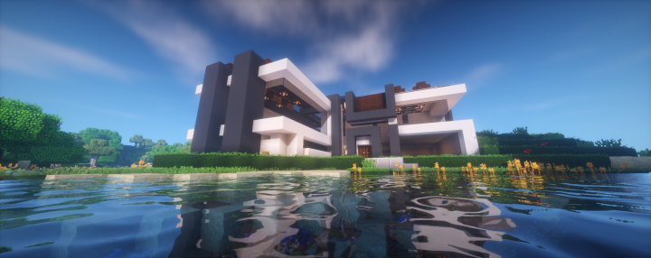 Casa moderna survival 2 minecraft project for Casa moderna 2 minecraft