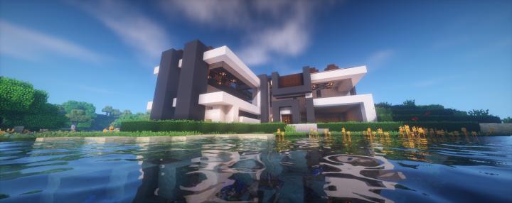 Casa moderna survival 2 minecraft project for Minecraft casa moderna keralis