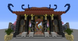 Oriental Temple and Garden Minecraft Project