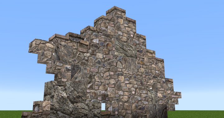 ...a simple cobble stone wall...