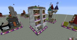 One Chunk Apartment Building Minecraft Map & Project