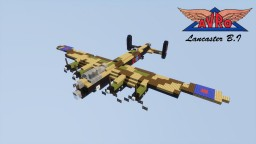 AVRO Lancaster B.I RAF 1,5:1 Minecraft Map & Project