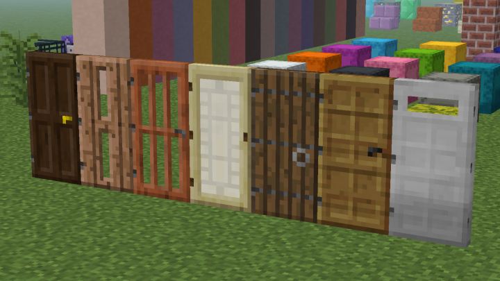 Jungle Door - Birch Door - Oak Door - Iron Door - Jungle Trapdoor