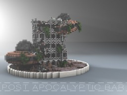 [POST APOCALYPTIC BAR] Futuristic Build Minecraft Map & Project
