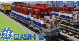 [1.5:1 Scale] GE C40-8M AEX, BCOL and CN diesel-electric locomotives Minecraft Project