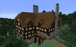 Evergreen House - a Timberframe Manor Minecraft Map & Project