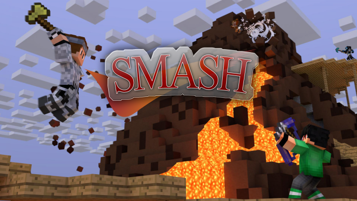 Inspired by Sethblings Super SMASH Brothers redstone map, SMASH brings the unique and exciting gameplay of Super SMASH Brothers into the world of Minecraft