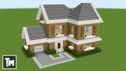 Minecraft: How To Build a Suburban House Easy (Episode 2) 2017 Minecraft Map & Project