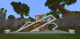 Superior Wooden Mansion ! mind Blowing And Has Capacity of 50 People Inside ! Minecraft Map & Project